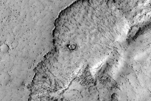 An Elephant on Mars? At Least According to This NASA Photo  NASA managed to snag this unique picture of an elephant-shaped lava flow on Mars in the Elysium Planitia sector of the planet. Located on a Martian plain known for displaying some of the planet's youngest lava flows, this flow may have occurred within the past 100 million years – a relatively short time in the planet's history.: Photos, Spaces, Elysium Planitia, Nasa Mars, Elephants Faces, Lava Flowing, Reconnaiss Orbit, Image, March Recognis