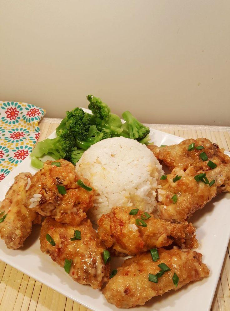Air Fried Spicy Bang Bang Chicken Wings Image