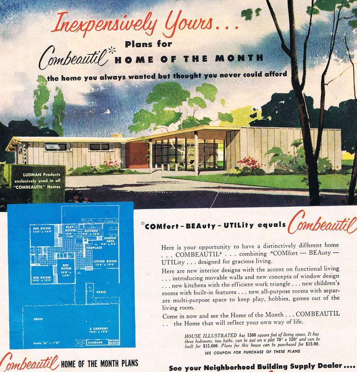 Combeutiful Home of The Month, April 1956. Repinned by Secret Design Studio. www.secretdesignstudio.com