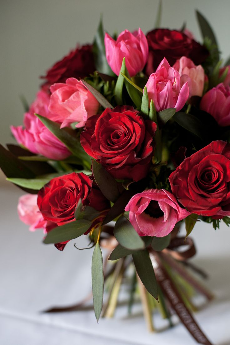 Red Devil Valentine's bouquet - BlueSkyFlowers.co.uk Photo credit Fiona Kelly