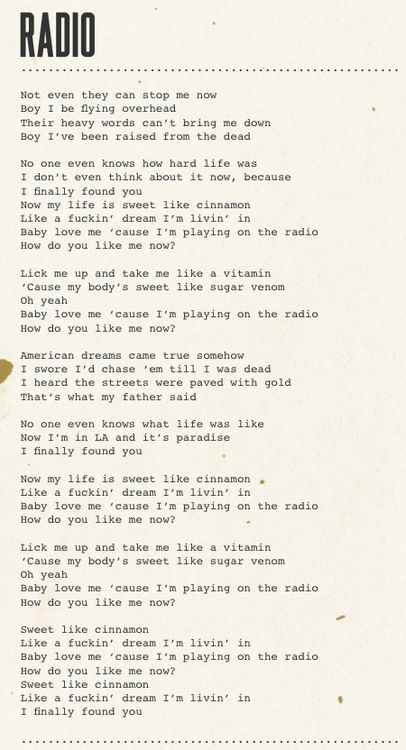 Lana Del Rey #LDR #Radio   Seriously can I just quote her entire first two albums and put them in here already? :X Seems like the two of us had similar life experiences...