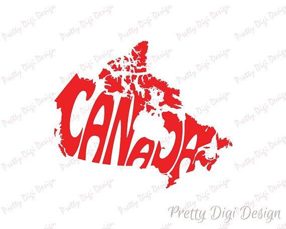 Digital Canada Word Art, Canada jpg, png, pdf, eps, svg, Canada logo design, Canada word in map shape, Canada wall decor, Canada printable