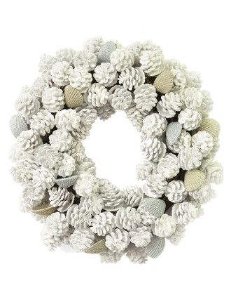 Wreath Norfolk White