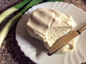 Veganský mandlový čerstvý krémový sýr