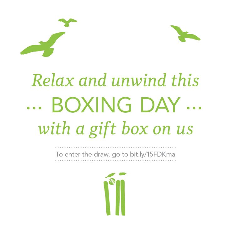 On Friday, we're announcing the five lucky winners of our Boxing Day competition. If you wanna be one of them, get cracking and enter the comp here  bit.ly/15FDKma