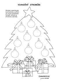 Vianočné pracovné listy pre predškolákov