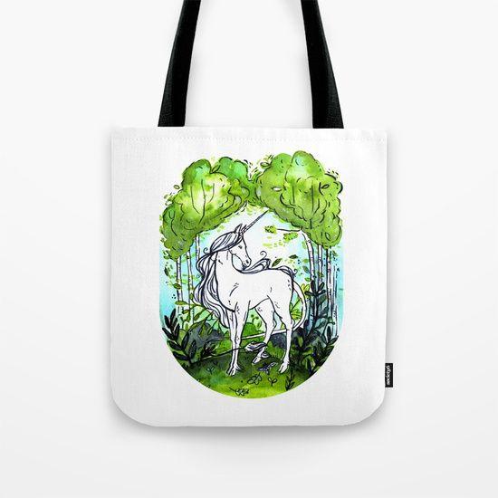 The last unicorn Tote Bag by Erika Biro | Society6