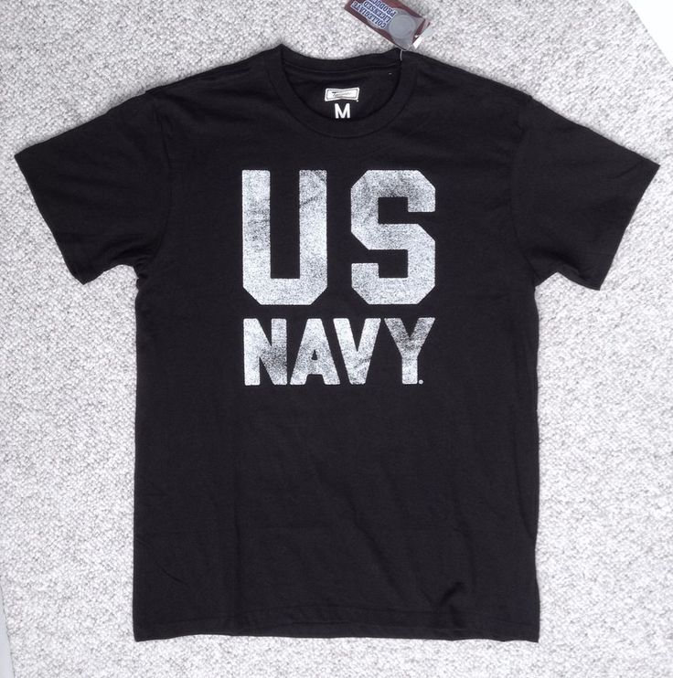 vtg-look US NAVY T-SHIRT Black/White Tailgate United States Naval Academy SM,MED #Tailgate #GraphicTee