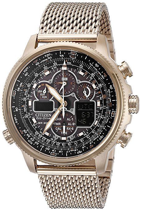 a13308c5a9f Citizen Eco-Drive Men s JY8033-51E Navihawk A-T Rose Gold Watch ...
