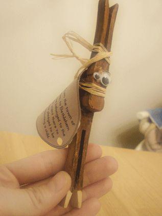 Christmas Story Ornament - Bethlehem Donkey; fun craft project for kids