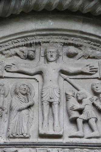 Cathédrale de Berceto,relieve romanico  Parma,Italia