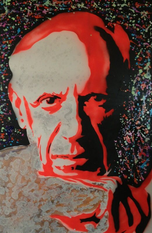 Picasso  Oil & Spray on canvas