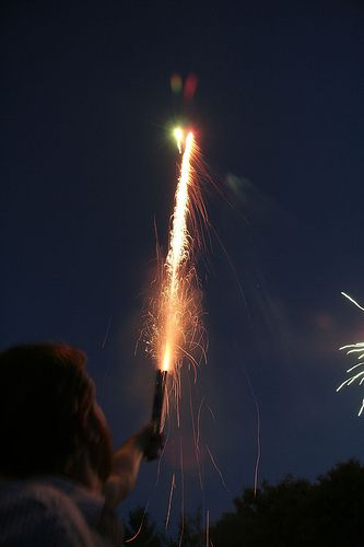 Fireworks : Roman Candle