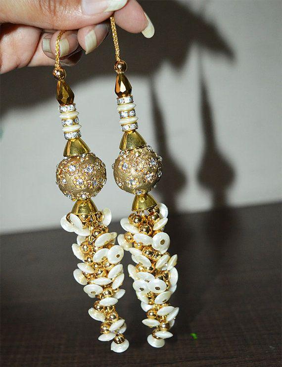 Perles décoratives / robe femmes glands / embellissement indien / accessoires Latkan / Saree gland / Dupatta gland