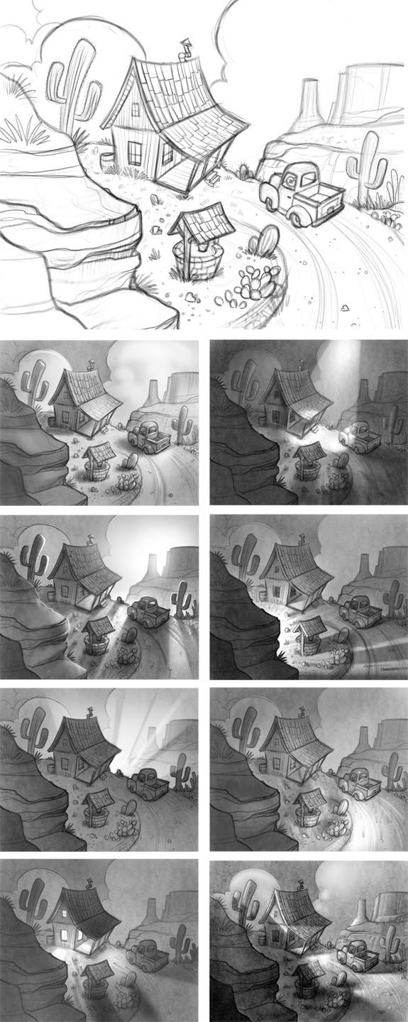 """Lighting for Drama - part of a lesson from our """"illustrating Children's Books"""" class at www.svslearn.com by www.willterry.com and www.mrjakeparker.com"""