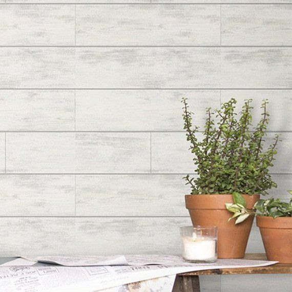 Magnolia Home By Joanna Gaines Shiplap Removable Wallpaper Mh1560 56 Sq Ft Magnolia Homes Shiplap Wall Joanna Gaines Shiplap