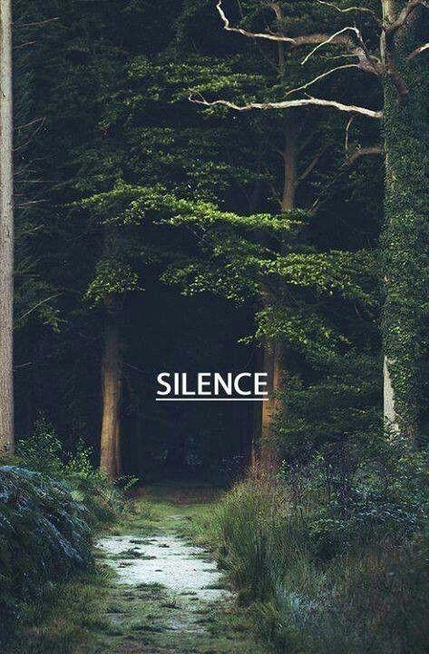 silence et réfléchis , la base du future