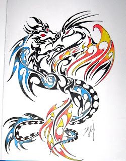 Dragon and Phoenix Symbol | Phoenix and dragon tattoo