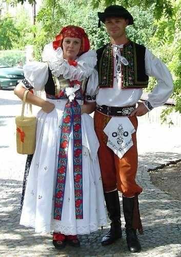 Costume typical for region Haná, Czech republic