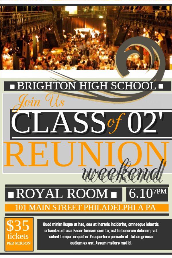 High School Harry Potter Themed Reunion Poster Template Flyer Template Event Flyer Templates Flyer