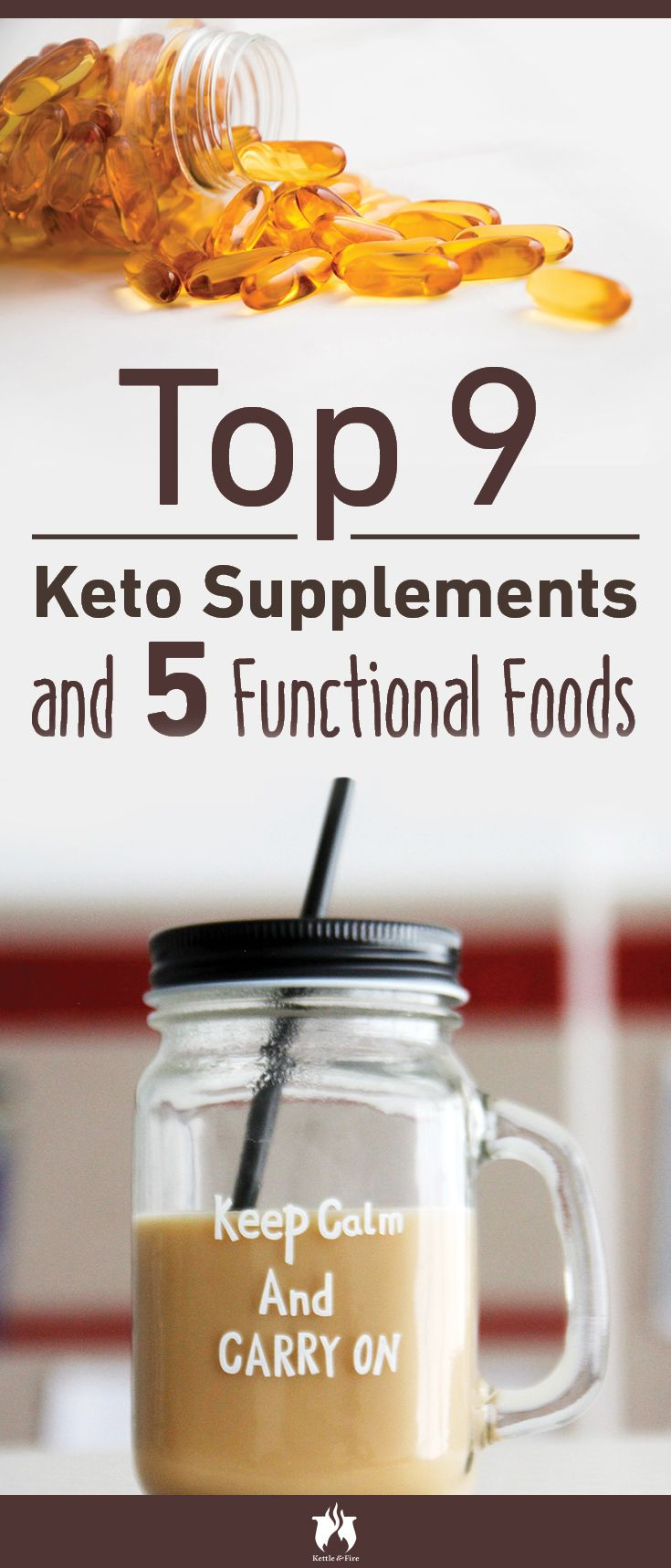 Top 9 keto supplements that can maximize your results by accelerating weight loss and boosting your energy levels on the keto diet, plus 5 functional foods.
