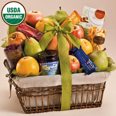 organic fruit gift basket deluxe gift baskets towers harry