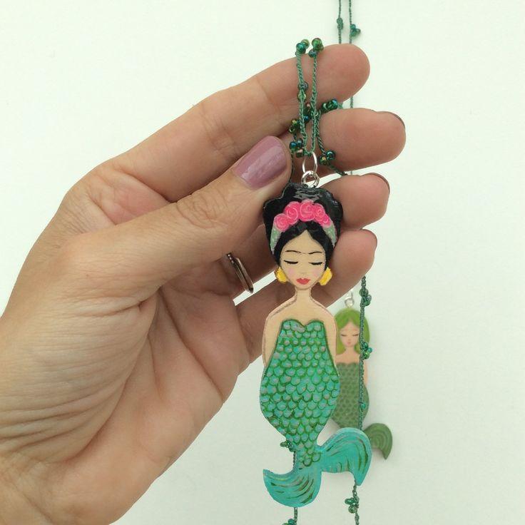 Frida zeemeermin ketting nieuw in mijn Etsy shop