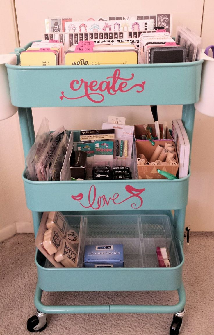 This is a work in progress, but here's a pic of my Raskog cart from ikea. It's set up for project life. #raskog #projectlife