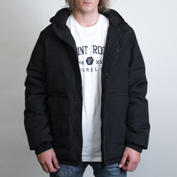 AS Colour Puffer Jacket Leavers Gear - The Print Room NZ - Black