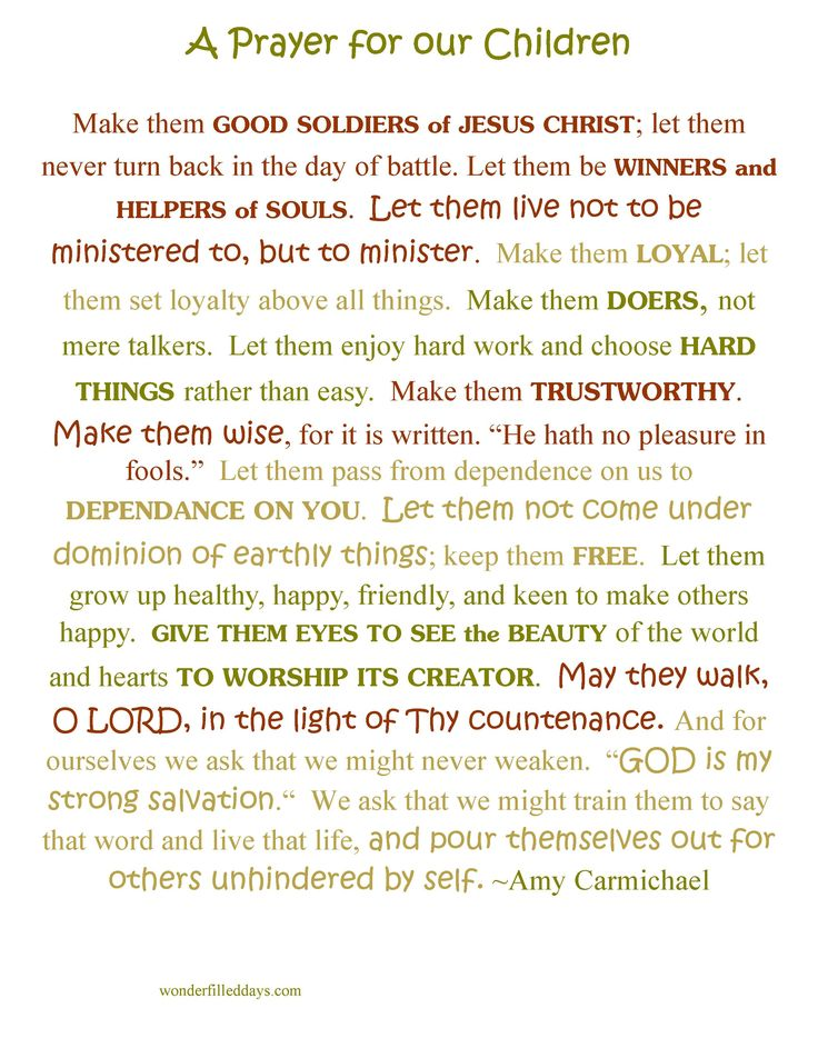 Amy Carmichael's Prayer for Children {printable}                                                                                                                                                      More