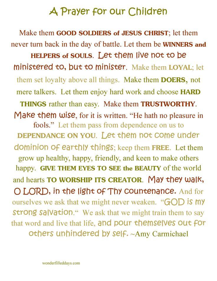 Amy Carmichael's Prayer for Children {printable}                                                                                                                                                      More