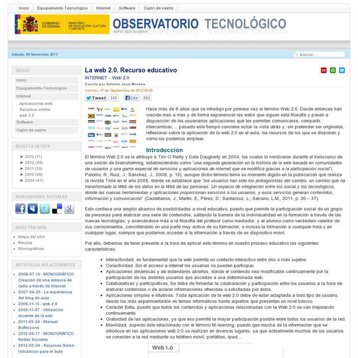 Incluye enlaces a herramientas Web 2.0 de inter�s educativo. 'http ...