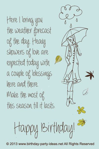 Hillarious Happy Birthday Sayings. Here I Bring You The Weather Forecast Of  The Day.