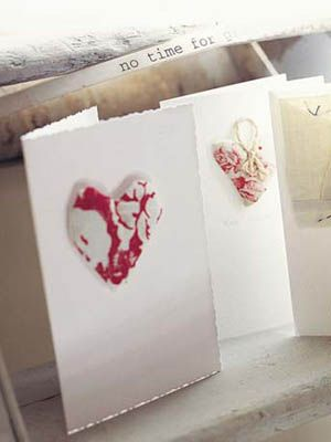 For a thoughtful gift, create one of these simple lavender-filled-heart cards.
