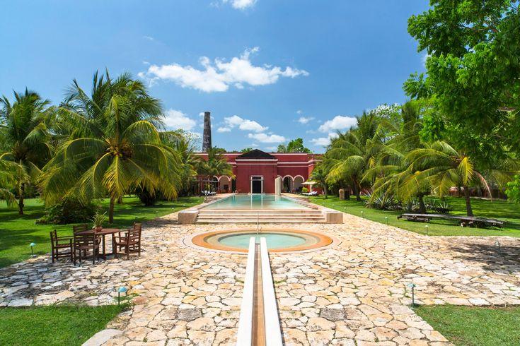 The pool at Hacienda Temozon
