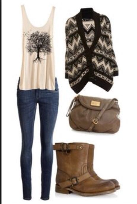 Autumn/winter outfit! Love the top the most!