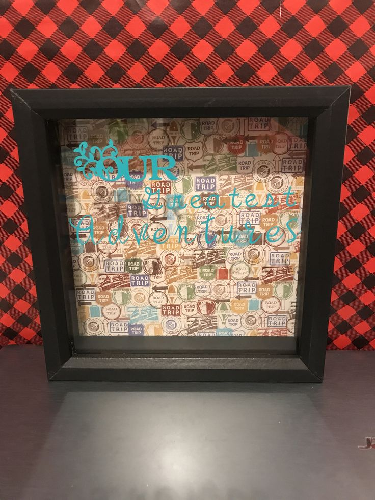 Our Greatest Adventures Ticket Shadow Box, Ticket Shadow Box, Adventure, Travel Shadow Box, Road Trip Shadow Box, Valentines Gift for us by ChickenCoopGifts on Etsy