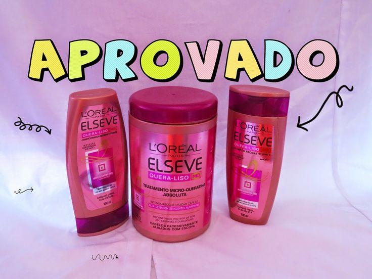 """vivy's moda: PRODUTO APROVADO """"LOREAL ELSEVE QUERA- LISO"""""""