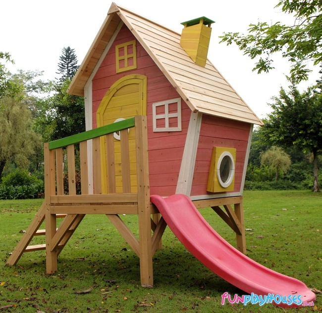 Crooked playhouse plans woodworking projects plans for Plans for childrens playhouse