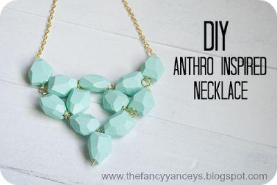 Vintage Romance: DIY Anthro Inspired Seafoam Necklace