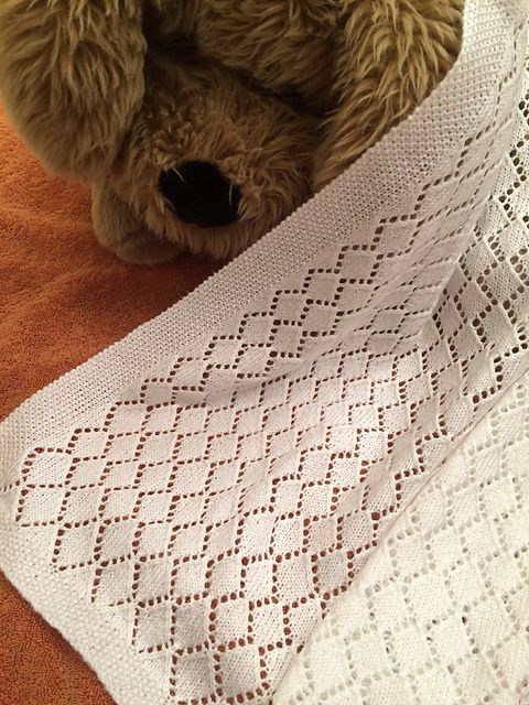 Ravelry: Diamonds for the Grandbaby pattern by Deborah Gregory free baby blanket pattern