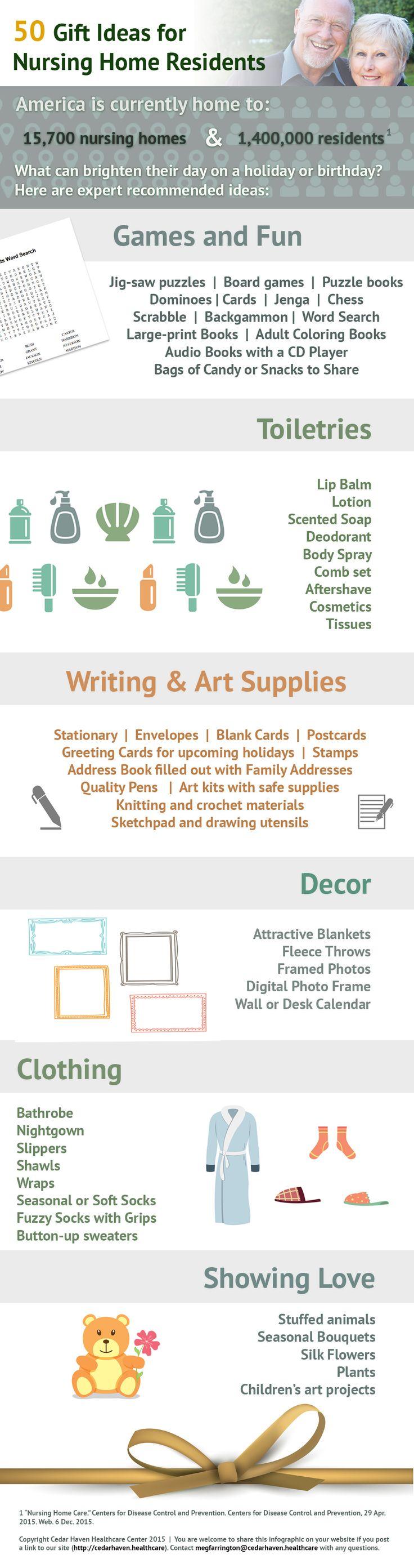 50 Gift Ideas for Nursing Home Residents