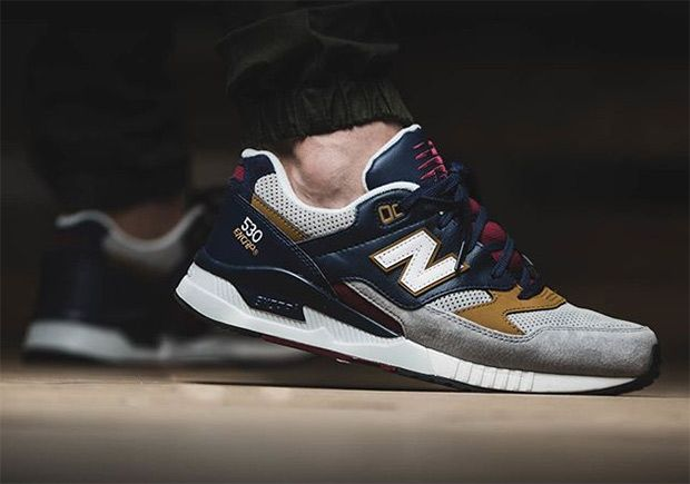 This New Balance 530 features a great colorway that is perfect for the Fall.