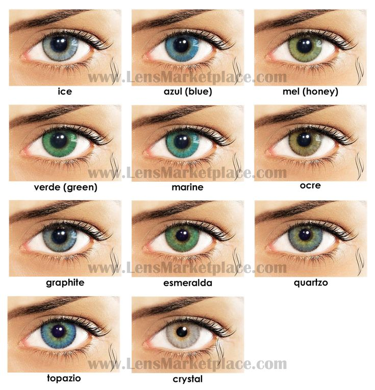 Natural Light Brown Eye Contacts