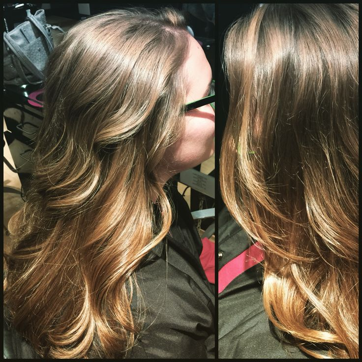 Golden caramel highlights face framing. Bayalage/sombre'.  By Denise Suttlemyre @Xquisite Salon&Spa