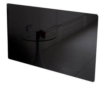 Vitreo Small Radiator Cover in Black Glass, 900mm