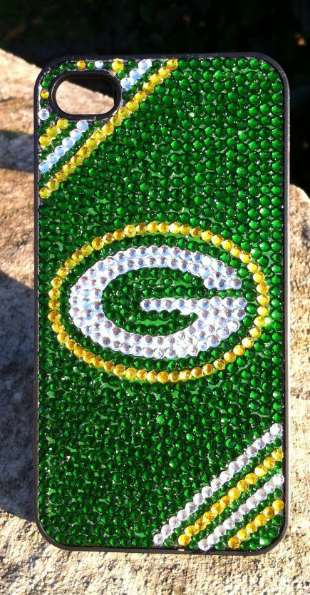 Green Bay Packers Rhinestone iPhone Case by winedazzle on Etsy, $45.00 for @Catie @ Catie's Corner Vondrak