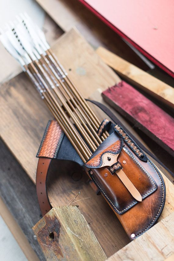 Leather Archery Field Quiver by Choirbox on Etsy