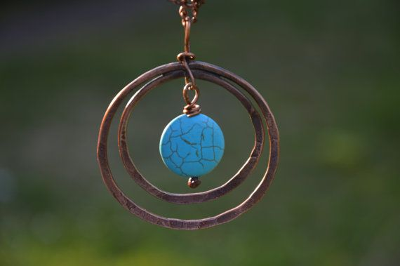 hammered copper necklace copper jewelry copper by CopperFinger