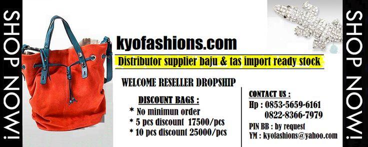 www.kyofashions.com supplier distributor baju & tas import ready stock